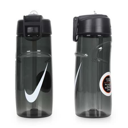 NIKE T1 訓練水壺 16OZ-附吸管 運動水壺 慢跑 路跑 單車 自行車 黑白 F
