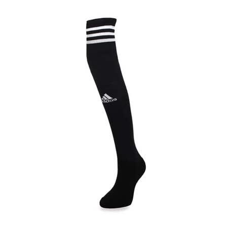 (女) ADIDAS 運動襪-慢跑 路跑 襪子 長襪 膝上襪 愛迪達 黑白