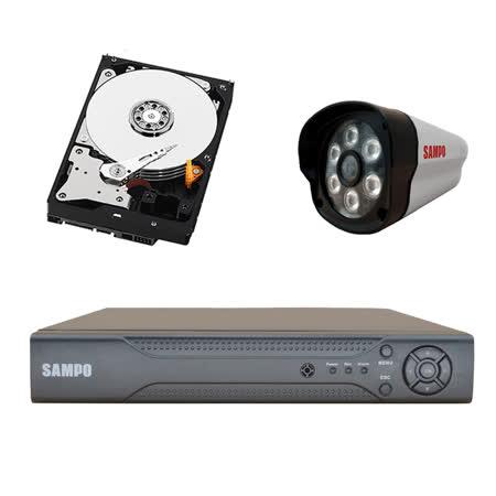 SAMPO聲寶(4路1鏡1T) SONY晶片高清HD1080P AHD四路攝影監控主機