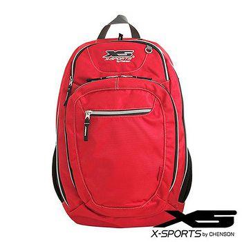 《任選二件66折》 X-SPORTS 愛出遊背包客 【特大號】多夾層後背包 紅(CG20861-R3)