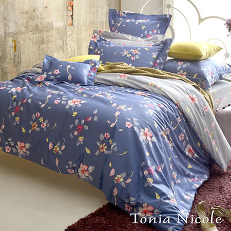 Tonia Nicole東妮寢飾 瑪麗娜環保印染高紗支精梳棉簡被床包組(加大)