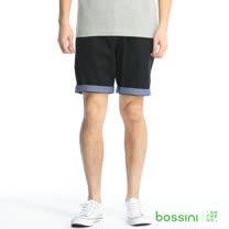bossini男裝-輕便短褲04黑