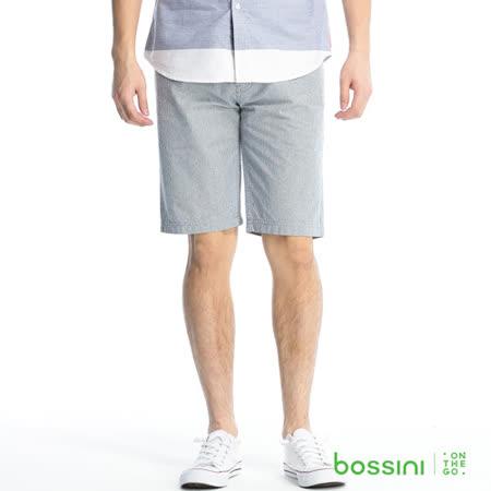 bossini男裝-直條紋牛仔短褲08海軍藍