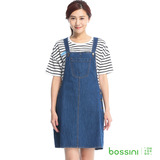 bossini女裝-牛仔連身吊帶裙05深靛藍