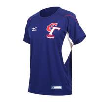 (男) MIZUNO -限量中華台北練習服- 壘球 棒球 短T 短袖T恤 美津濃 藍白紅