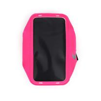 NIKE 輕量手機萬用臂包-慢跑 路跑 手機包 4.7吋螢幕適用 螢光粉 F