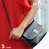 【MAKU STORE】新款單肩包韓國簡約百搭迷你女包-黑色