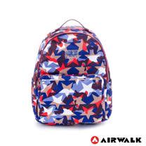 AIRWALK-星星迷彩 尼龍印花基本款後背包-花花藍