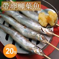【築地一番鮮】加拿大帶卵柳葉魚20包(約300g/包)免運組