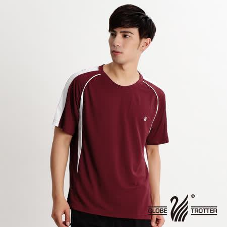 【遊遍天下】MIT台灣製中性款抗UV吸濕排汗圓領衫S079暗紅