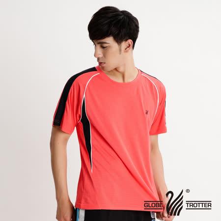 【遊遍天下】MIT台灣製中性款抗UV吸濕排汗圓領衫S079桔色