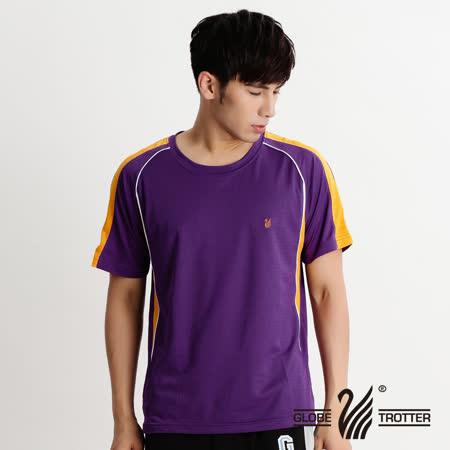【遊遍天下】MIT台灣製中性款抗UV吸濕排汗圓領衫S079紫色