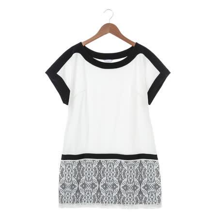 IRIS 蕾絲裙洋裝-黑白