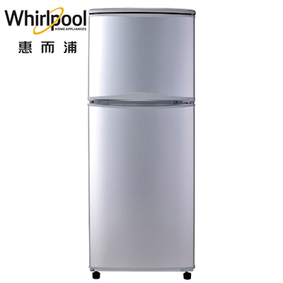 Whirlpool惠而浦130L銀灰上下門冰箱 WTT2130G