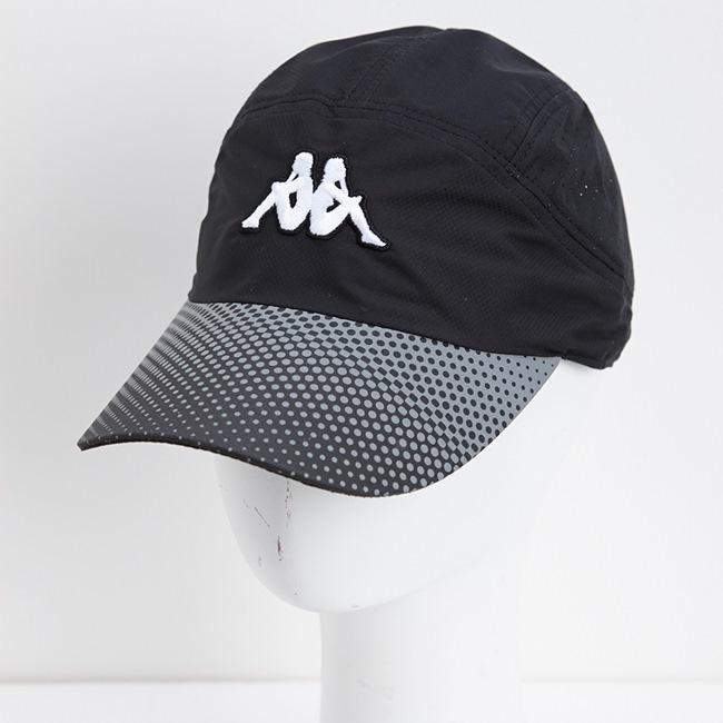 KAPPA義大利休閒慢跑運動帽1個 黑 黑底 印白