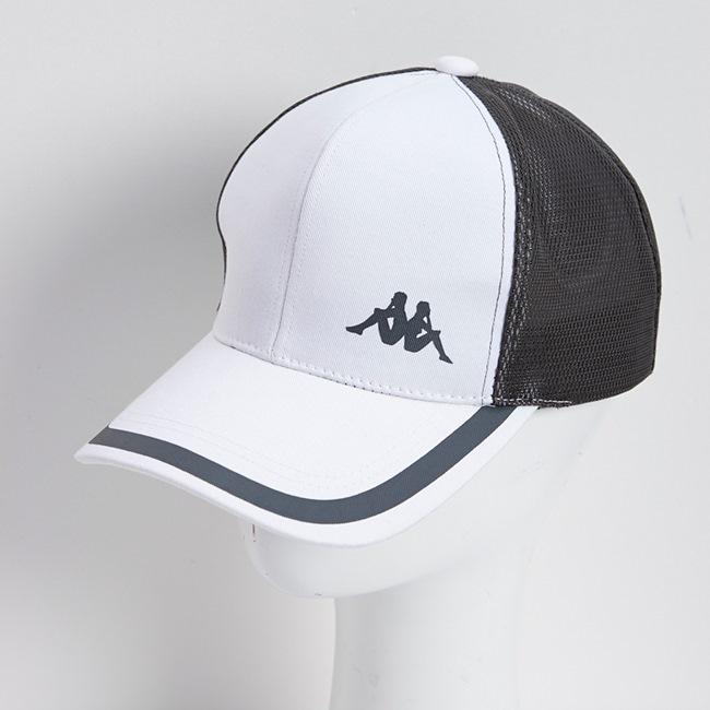KAPPA義大利休閒慢跑運動帽1個 白 灰 印灰