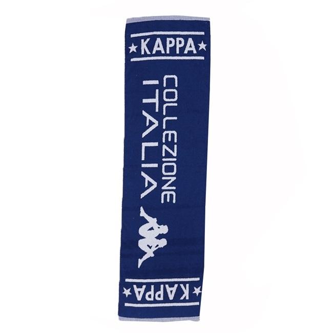 KAPPA義大利休閒慢跑 緹花毛巾~科技藍 白色
