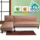 【喬立爾】創意巧拼多功能加長版L型沙發-駝色