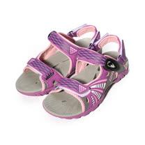 (女) LOTTO 磁釦運動排水涼鞋 紫 女鞋 鞋全家福