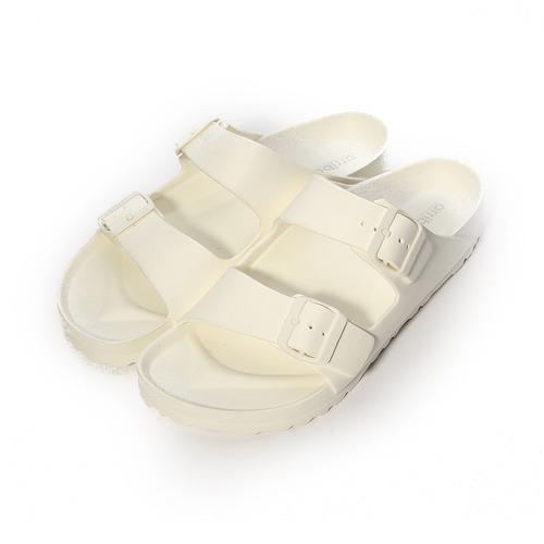 (男) ARRIBA 輕量腳床雙帶拖鞋 白 男鞋 鞋全家福