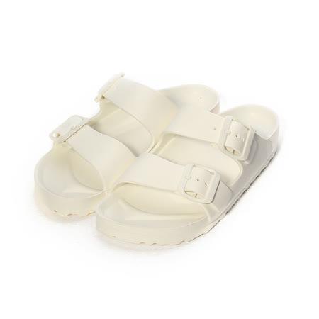 (女) ARRIBA 輕量腳床雙帶拖鞋 白 女鞋 鞋全家福