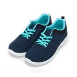 (女) ARRIBA 輕量休閒編織鞋 藍 女鞋 鞋全家福