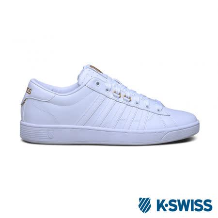 K-Swiss Hoke CMF美式休閒鞋-男-白/金