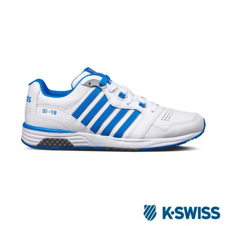 K-Swiss Si-18 Trainer II LTHR休閒運動鞋-男-白/藍