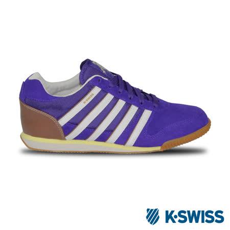 K-Swiss Whitburn SP T復古慢跑鞋-女-白/紫