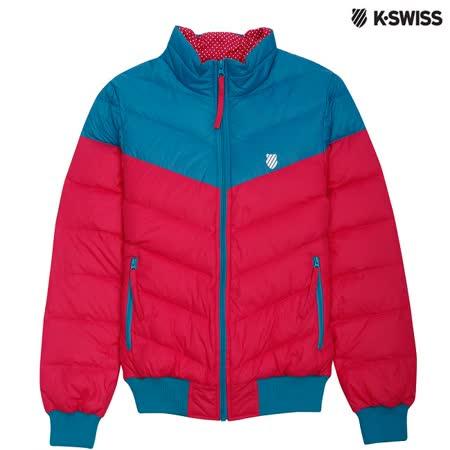 K-Swiss Down Jacket羽絨外套-女-湖水綠/瑰紅