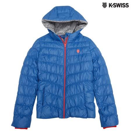 K-Swiss Down Jacket連帽羽絨外套-女-海軍藍