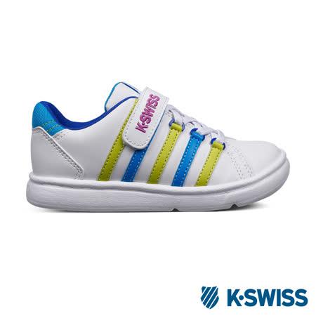 K-Swiss KS CHK 116休閒運動鞋-童-白/藍/螢光綠