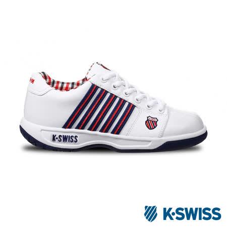 K-Swiss Eadall休閒運動鞋-男-白/藍/紅