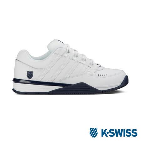 K-Swiss Baxter 休閒運動鞋-男-白/海軍藍