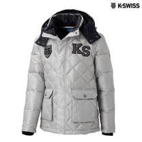 K-Swiss Quilted Down Jacket羽絨外套-男-炭灰