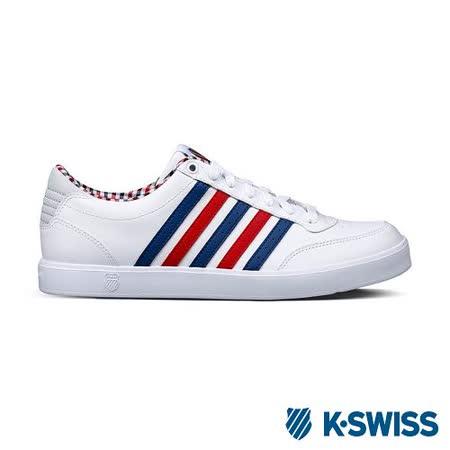 K-Swiss Court Lite輕量休閒鞋-男-白/藍/紅