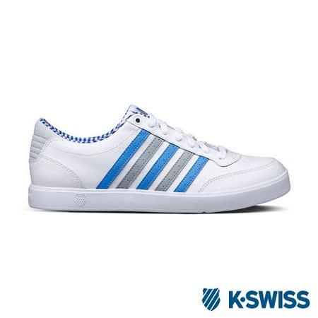 K-Swiss Court Lite輕量休閒鞋-男-白/藍/灰