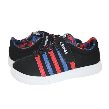 K-Swiss Classic VLC 休閒運動鞋-童-黑/藍/紅