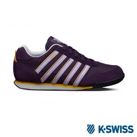 K-Swiss Whitburn SP T復古慢跑鞋-女-紫/淺灰/黃