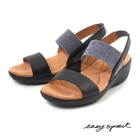 Easy Spirit--後拉帶楔型涼鞋--俐落藍