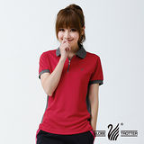 【遊遍天下】台灣製女款顯瘦抗UV涼爽吸濕排汗POLO衫(紅M-5L 品特)
