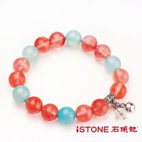 石頭記草莓晶10mm手鍊-幸福愛情石