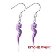 石頭記925純銀紫水晶耳環-流行