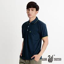 【遊遍天下】台灣製男款抗UV吸濕排汗機能POLO衫(深藍M-5L 品特)
