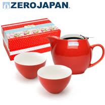 【ZERO JAPAN】典藏陶瓷一壺兩杯超值禮盒組(蕃茄紅)
