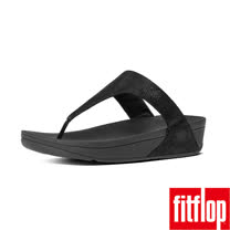 FitFlop™-(女款)SHIMMY™ SUEDE TOE-THONG SANDAL-亮黑