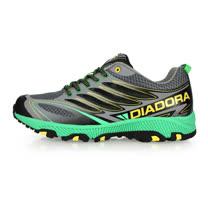 (男) DIADORA 越野慢跑鞋-登山 健走 露營 淺灰綠