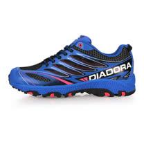 (男) DIADORA 越野慢跑鞋-登山 健走 露營 藍黑