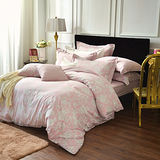 IN HOUSE-Begonia-300織紗精梳棉-薄被套床包組(粉色-特大)