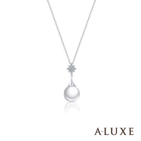 A-LUXE 亞立詩 寵愛系列18K鑽石AKOYA珍珠項鍊